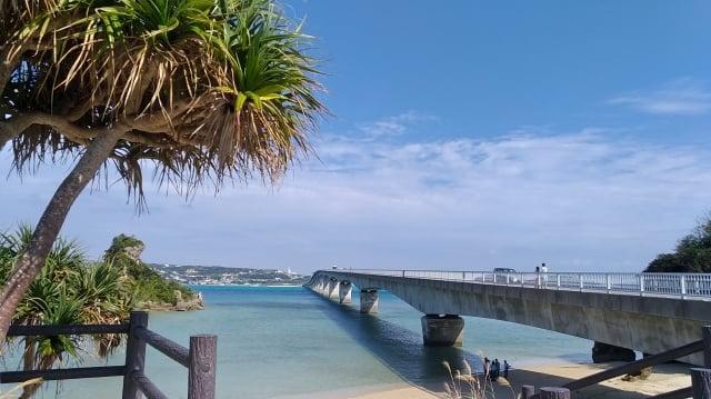 古宇利大橋橫跨古宇利島與沖繩島。(楊子樊提供)
