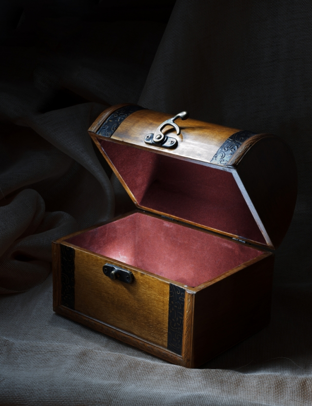 盒子裡只有兩個玩偶,意味著這麼多年來,她只有兩次真的生他的氣。(Shutterstock)