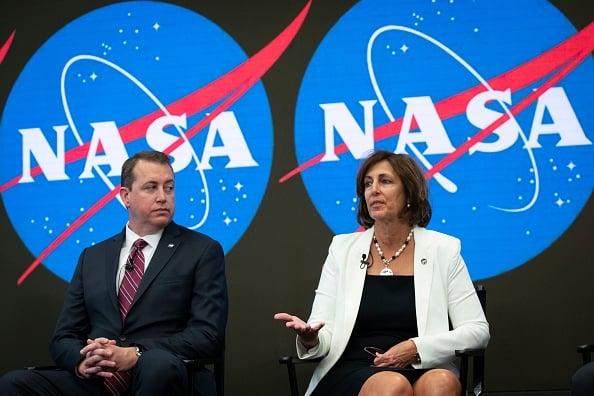 美國航太總署NASA在紐約宣布,將在2020年,開放商業太空旅遊。 (Drew Angerer / Getty Images)