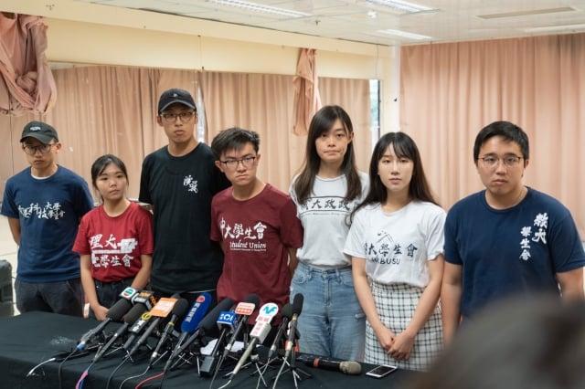 香港有七間大專院校的學生將發起罷課。(記者李逸/攝影)