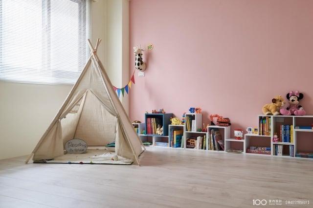 孩子房間功能可分為玩樂區、休息區、收納空間。(樂創空間設計提供)