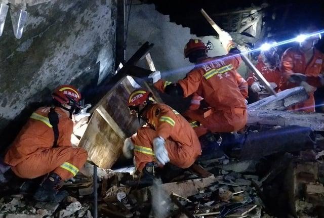 四川宜賓17日深夜發生規模6的淺層地震,傳出上百死傷。(Getty Images)