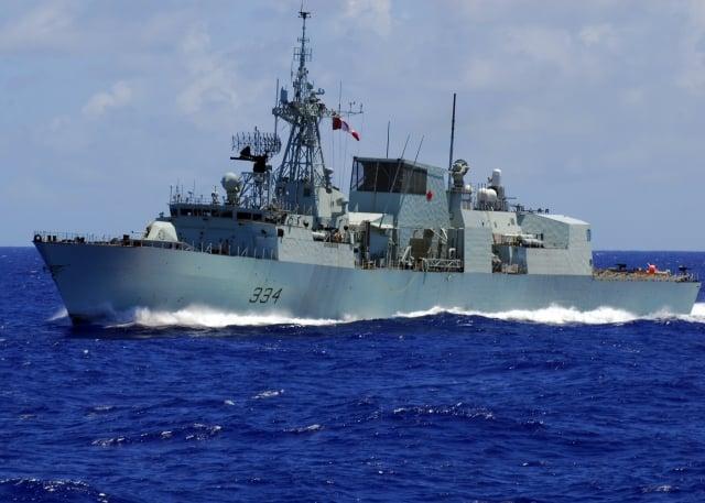 加拿大皇家海軍巡防艦「里賈納號」(HMCS Regina FFH-334)18日凌晨穿越台灣海峽。圖為資料照。(維基百科公有領域)