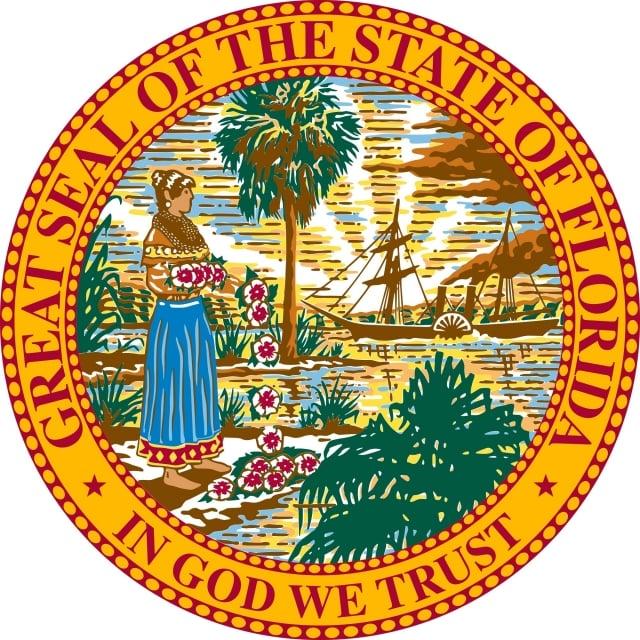 佛羅里達州州徽(公有領域)