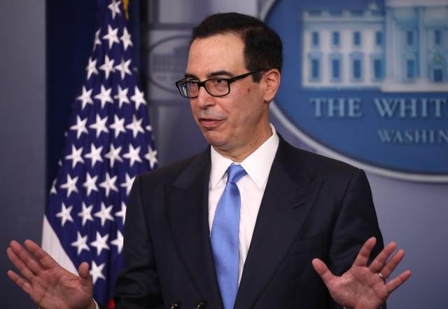 美國財長梅努欽(Steven Mnuchin)說,美中貿易談判已完成約90%。圖為資料照。(Mark Wilson / Getty Images)