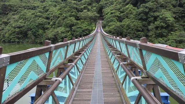 全台最長懸索橋 303公尺新溪口吊橋。(攝影/陳建霖)