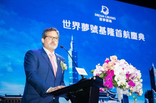星夢郵輪總裁戴卓爾‧布朗(Thatcher Brown)表示,明年3月至10月,星夢郵輪將在台灣增加營運至10個航次,預計帶來逾4萬名國際旅客。