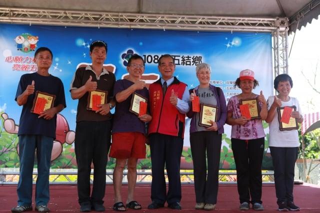 剝土豆比賽成績第1至6名:林文堅、吳國進、王世和、李碧蝦、李碧雪、曾林美月。