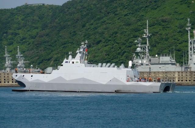 圖為我國海軍沱江艦。(BENJAMIN YEH / AFP)