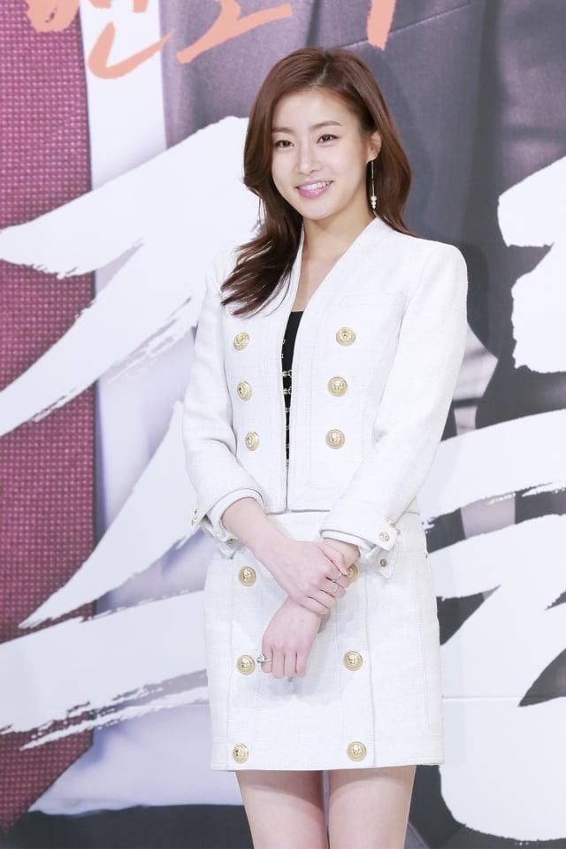韓國女星姜素拉憑著自己一套飲食方式甩掉24公斤。(記者全景林/攝影)