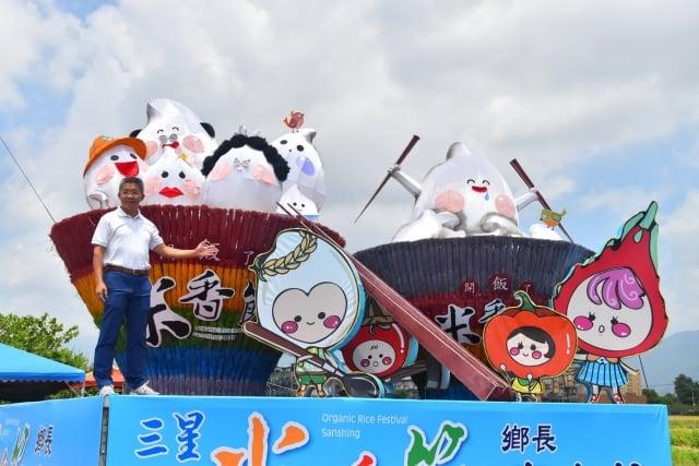 有機米香節27日登場,李志鏞鄉長歡迎大家來吃飯1。