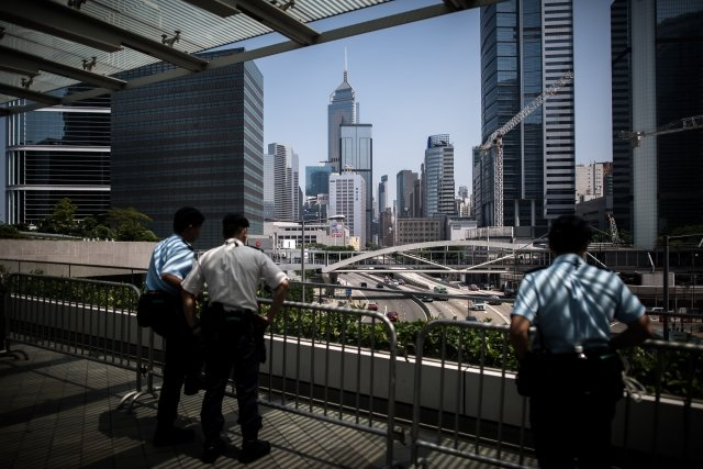 民間人權陣線23日晚間發表致各國駐港領事館公開信,促請各國對香港發布旅遊警示。圖為香港一景。(AFP)