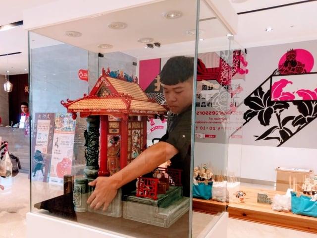 蕭仁孟「伴我成長 臺灣傳統之美」作品。