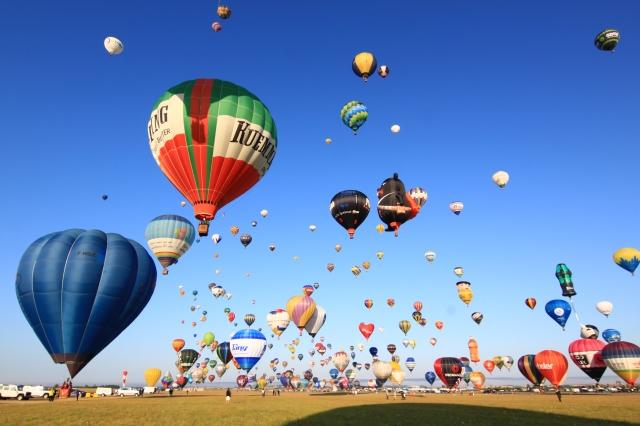台灣喔熊(OhBear) 熱氣球參加2019法國梅斯世界熱氣球節,與上百顆來自世界各地熱氣球同時升空。