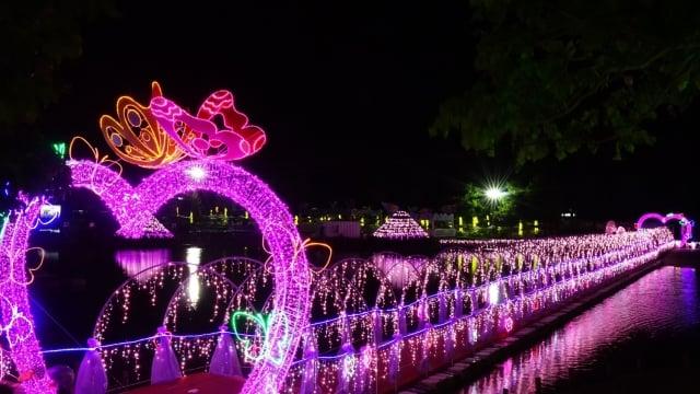2019宜蘭情人節 7 日冬山河親水公園登場。(宜蘭縣政府提供)