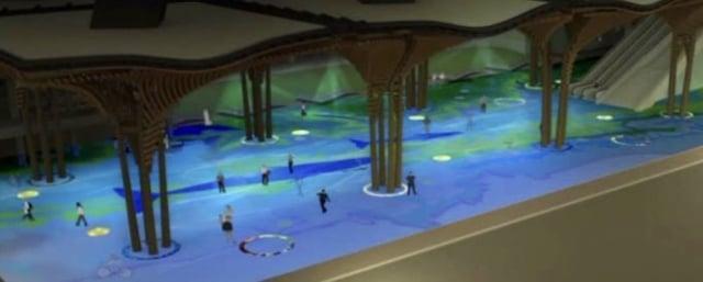花蓮車站的公共藝術「洄瀾鯨奇」。(鐵道局提供)
