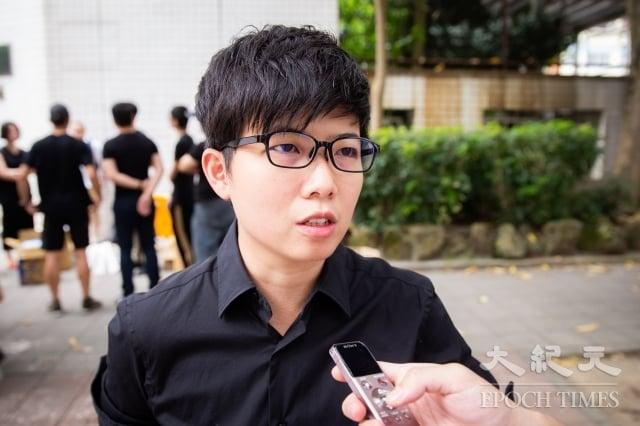 台北市議員苗博雅表示,當香港人在前線抵抗中共極權暴政的壓迫時,台灣更應該作為香港人的後盾。(記者陳柏州/攝影)