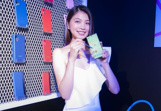 三星Galaxy Note10系列正式在台上市。(攝影/廖蔚尹)