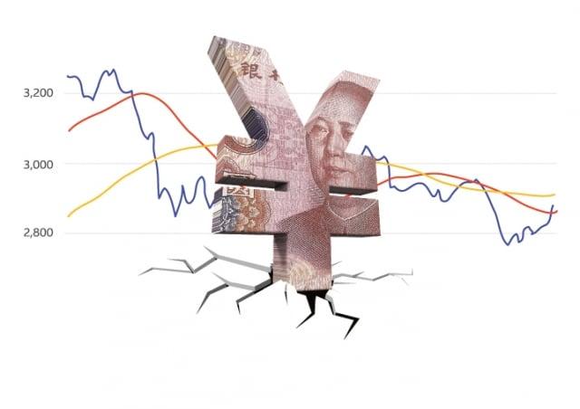 台灣人歌頌台商在中國賺大錢的年代已經過去,20年前的中國概念股,到現在已成中國賠錢股。(大紀元合成圖)
