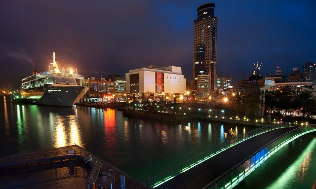 絢麗的基隆港夜景。(交通部觀光局提供)
