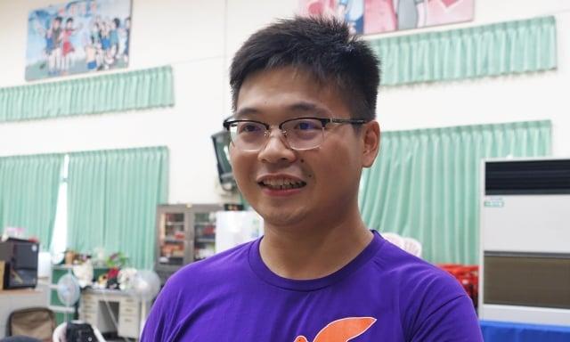 主辦單位教案企劃田淳凱表示,他們希望營隊除了好玩以外,還要讓孩子思考、獲得一些東西,這樣的營隊會更有意義。(記者簡源良/攝影)
