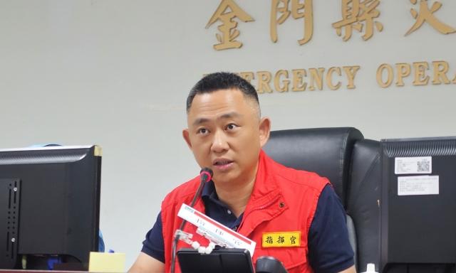 金門縣長楊鎮浯表示,白鹿颱風行徑與莫蘭蒂颱風非常類似,因此他一直非常關注,會嚴陣以待。