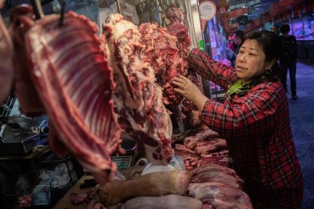 非洲豬瘟重創中國養豬業,南方部分地區生豬、豬肉價破歷史新高。(Getty Images)