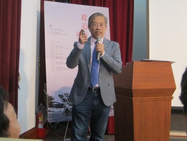 台灣財經刑法研究學會理事長陳志龍。(記者鍾元/攝影)