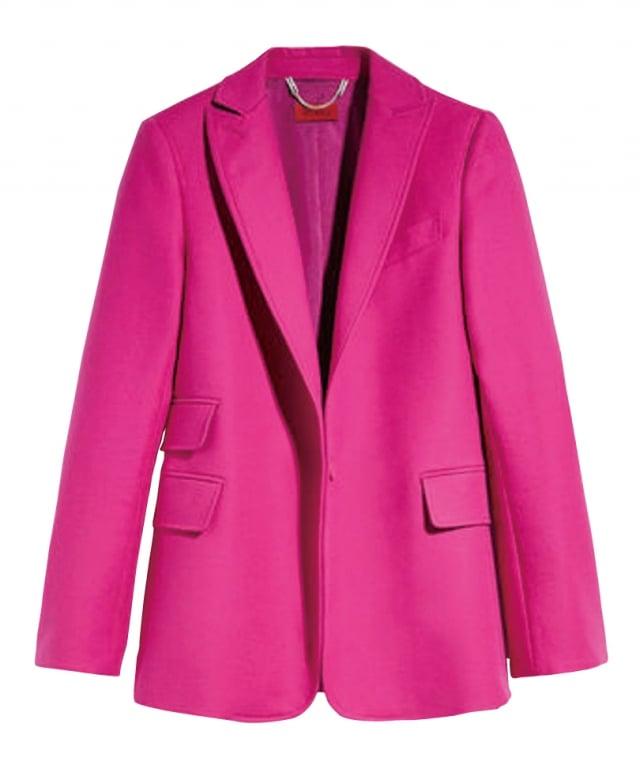 桃紅色西裝展現女性態度。(業者提供)