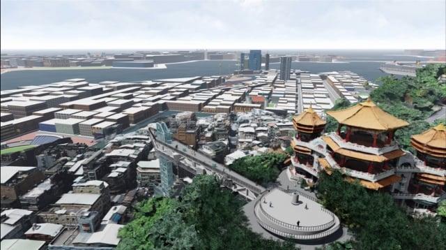 基隆山海城串聯再造模擬圖。