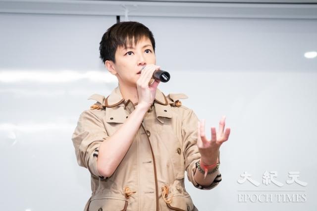 香港歌手何韻詩12日來台聲援「929台港大遊行:撐港.反極權」行動,她表示,港府背後的中共政府一直打壓,香港人已經無路可退。(記者陳柏州/攝影)