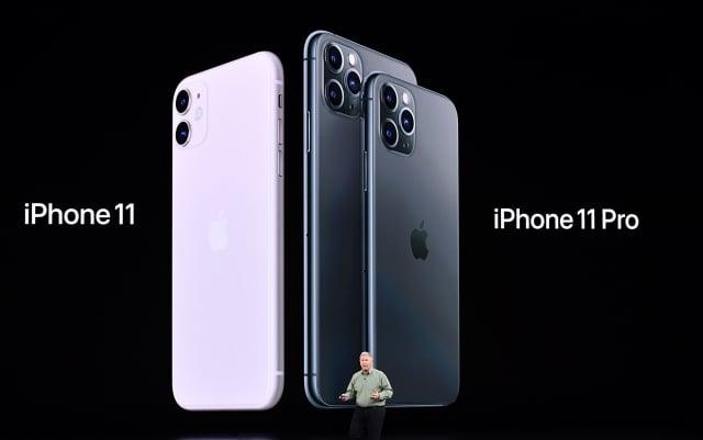2019年9月10日,蘋果全球營銷高級副總裁席勒(Phil Schiller)在蘋果公司總部舉行的產品發表會上推出了新的iPhone11和iPhone 11 Pro。((JOSH EDELSON/Getty Images)