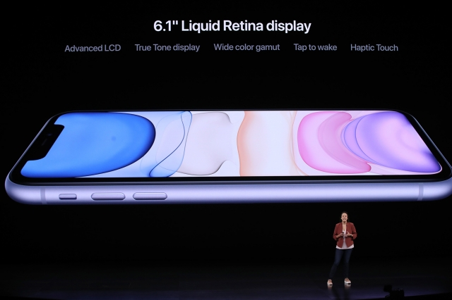 iPhone 11。(Justin Sullivan/Getty Images)