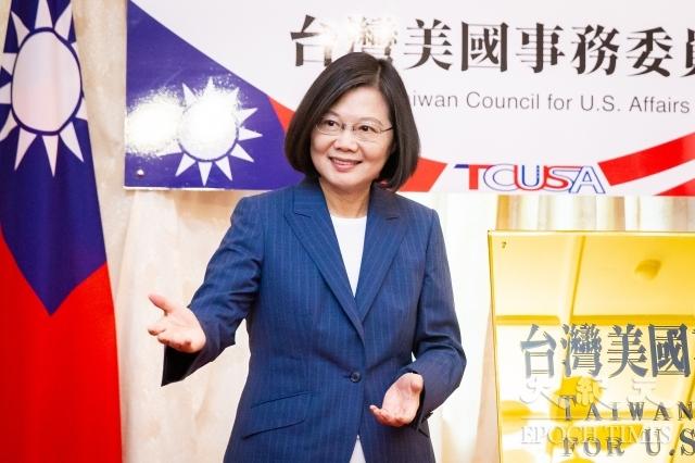 根據台灣民意基金會24日公布的最新民調顯示,尋求連任的總統蔡英文(圖)以53.6%的支持度,大勝國民黨總統參選人韓國瑜的30.9%。圖為資料照。(記者陳柏州/攝影)