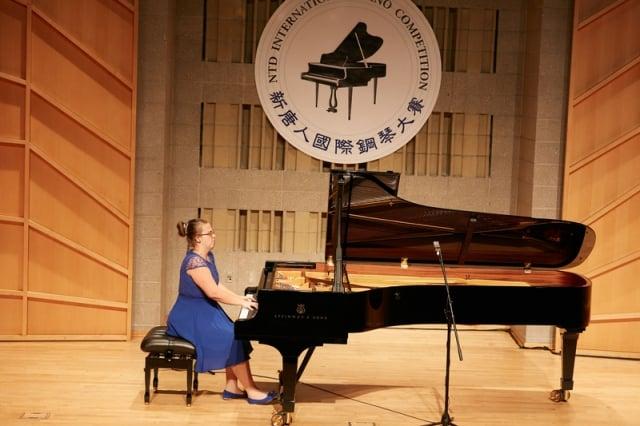 2019年9月26日,第五屆新唐人國際鋼琴大賽初賽現場。圖為選手Melika Buza在表演。(記者張學慧/攝影)