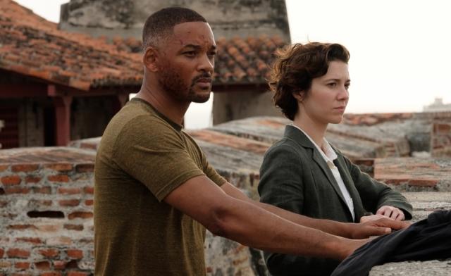 李安導演的新片《雙子殺手》劇照。圖左為男主角威爾史密斯。(UIP提供)