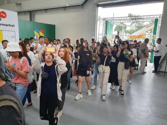 台灣設計展首日參觀人潮突破20萬人次,創下歷屆紀錄。