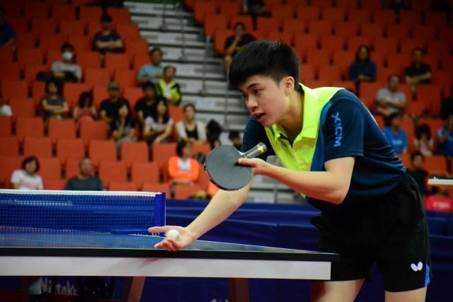 林昀儒勇奪全運會桌球男單金牌。(全運會提供)