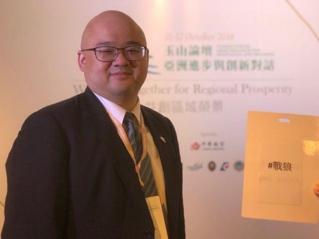台亞基金會執行長楊昊受訪表示,今年玉山論壇邀請理念相近國家,與新南向重點國家與會,讓國際看到台灣努力交朋友。(楊昊提供)