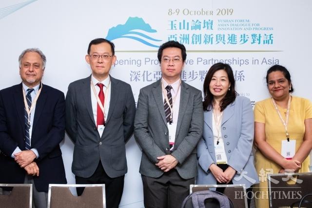 台灣亞洲交流基金會8日舉辦《台印關係研究報告書》發布會,多位台灣、印度專家學者與會。(記者陳柏州/攝影)