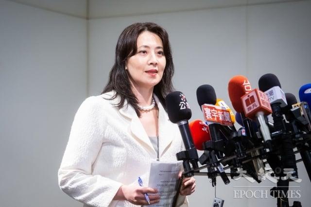 外交部發言人歐江安9日表示,駐福岡辦事處確實有收到這封透過友人轉交的賀電,「它不是假的」。(記者陳柏州/攝影)
