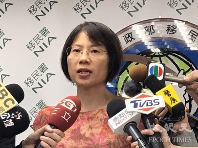 移民署副組長黃齡玉表示,反送中事件至今,港澳居民移民來台的申請件數確實有增加。(記者張原彰/攝影)