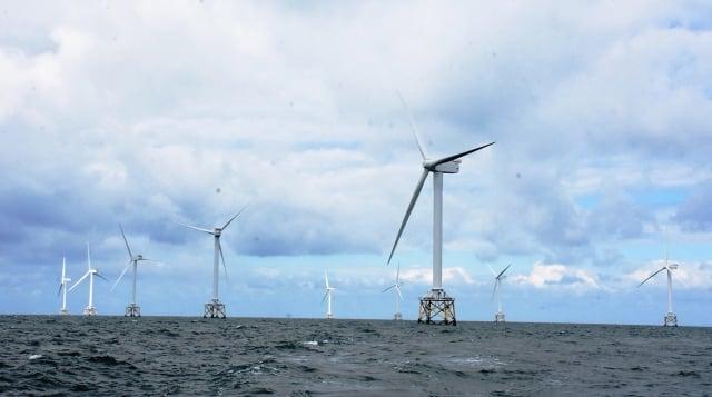 總統蔡英文16日指出,台灣第一座離岸風場正式完工,是台灣再生能源發展的重大里程碑。圖為示意圖。(中央社)