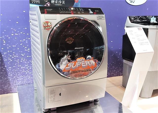 【16KG洗脫烘滾筒洗衣機】洗脫1小時完成,8kg洗脫烘4.5小時完成,同時具有ECO+智慧省水、省電、省時功能。另有60度高溫淨洗衣功能。(Peter/攝影)