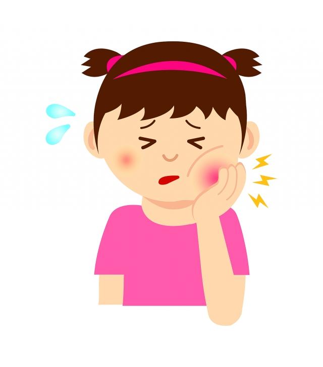 小女生小小的臉蛋,左頰腫了一個大包,高出鼻梁,快把下眼眶擠壓,左眼變小。(123RF)