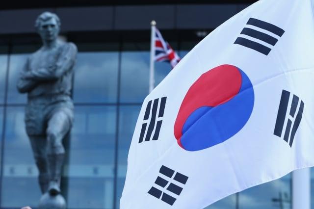 韓國決定放棄WTO開發中國家地位。圖為韓國國旗。(Michael Steele/Getty Images)