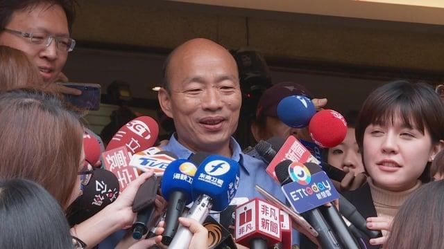 台灣民意基金會28日公布最新民調,結果顯示,有51.3%民眾支持蔡英文,領先韓國瑜的33.9%支持度。圖為韓國瑜資料照。(新唐人電視台)