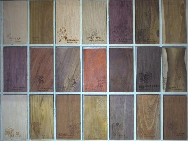 貴重木材多具有特殊色澤