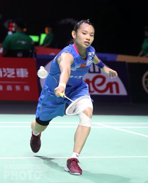 戴資穎帶傷上陣,力抗印尼小將。(badminton photo提供)