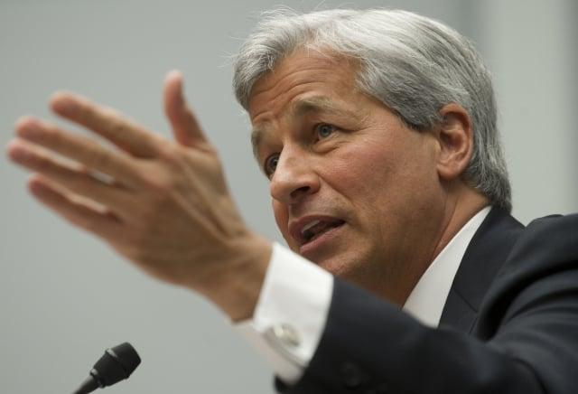 財經界俗稱「小摩」的摩根大通首席執行長戴蒙(Jamie Dimon)。(Saul LOEB/AFP)